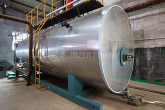 2 sets gas steam boiler project in nigeria