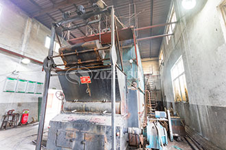 automatic gas or oil fired steam boiler